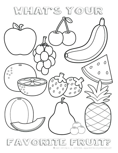 Coloring Pages For Kids Fruits At Getdrawings Com Free For