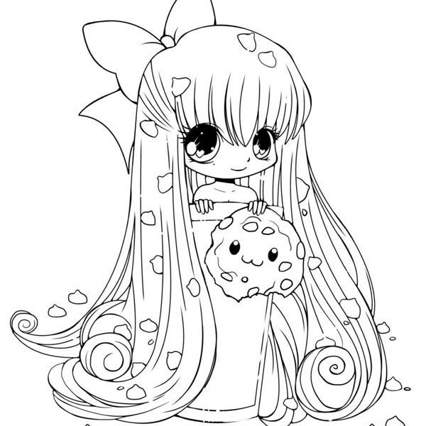 600x600 Cute Girl Coloring Pictures Online For Kid Cute Girl Coloring