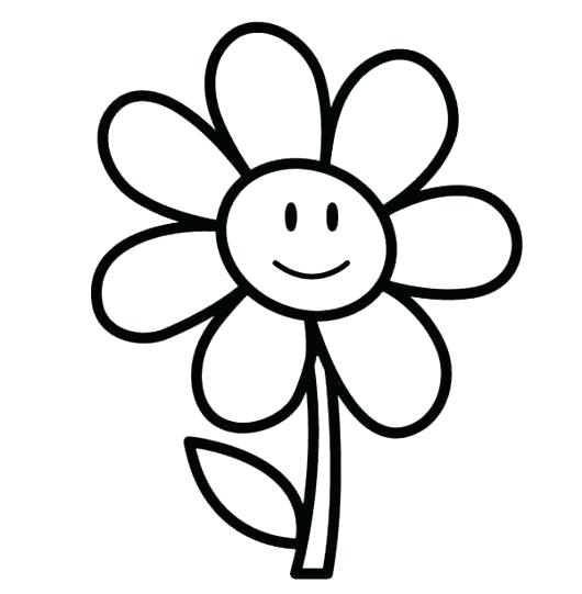 530x541 Coloring Pages For Girls Flowers Easy Coloring Pages As Well As