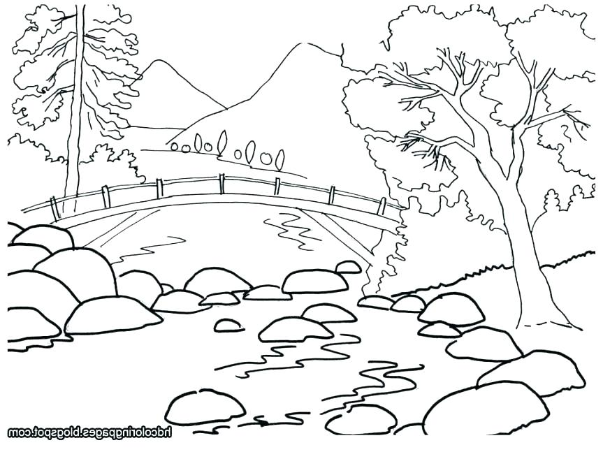 863x647 Printable Scenery Coloring Pages Scenery Coloring Pages Free