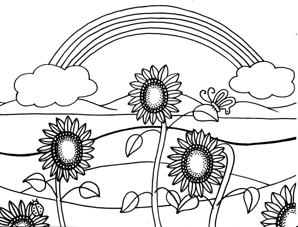 1024x783 Awesome Summer Coloring Pages On Coloring Pages For Kids Online