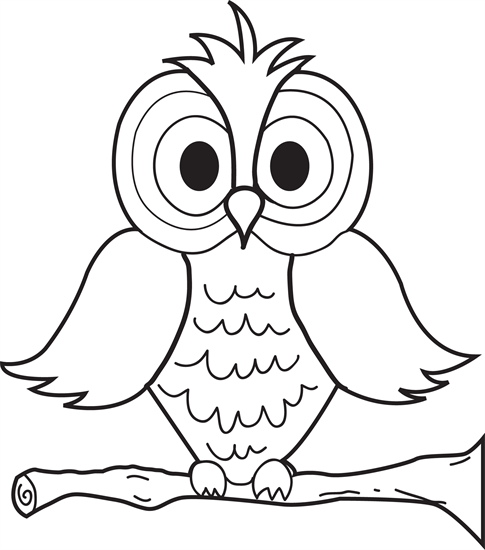 Coloring Pages For Kids Owls