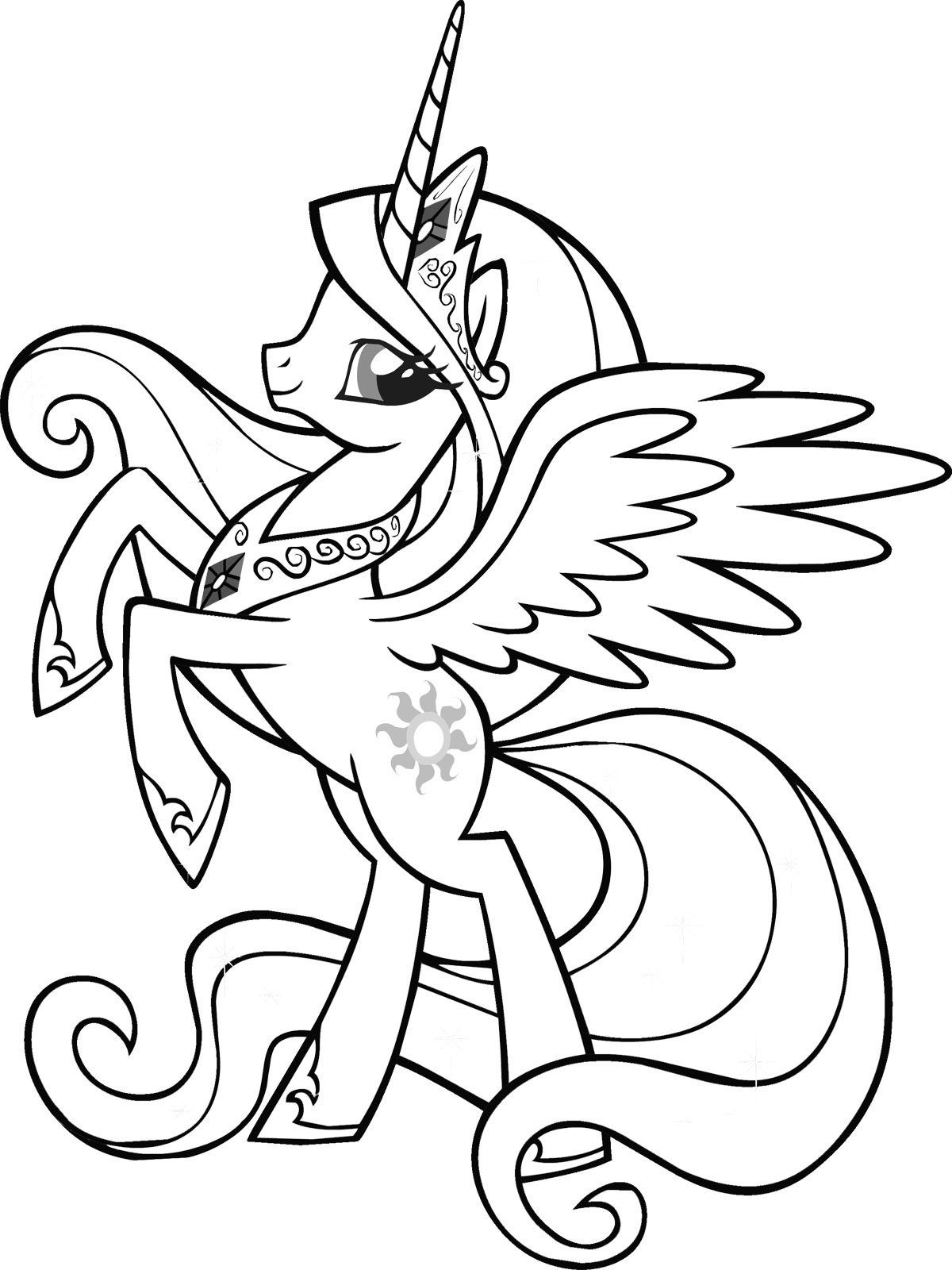 Coloring Pages For Kids Pony