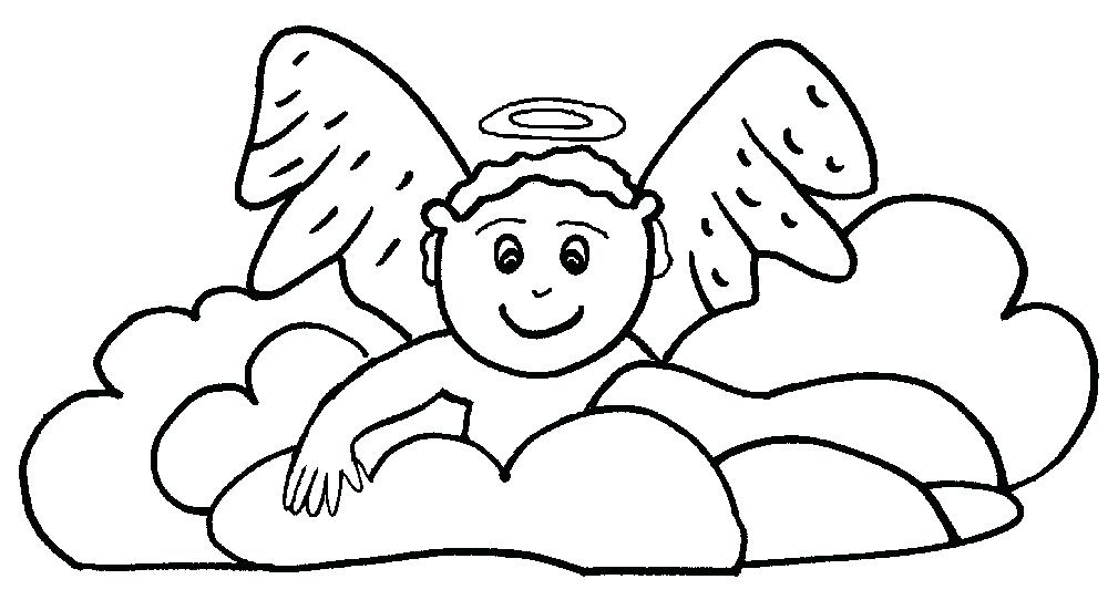 1000x542 Free Angel Coloring Pages Unbelievable Design Baby Angel Coloring