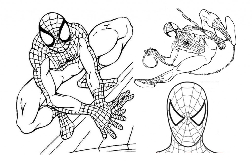 1024x657 Free Printable Spiderman Coloring Pages For Kids