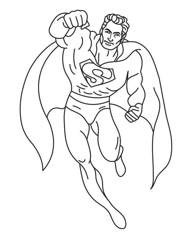 650x842 Free Printable Superman Coloring Pages For Kids
