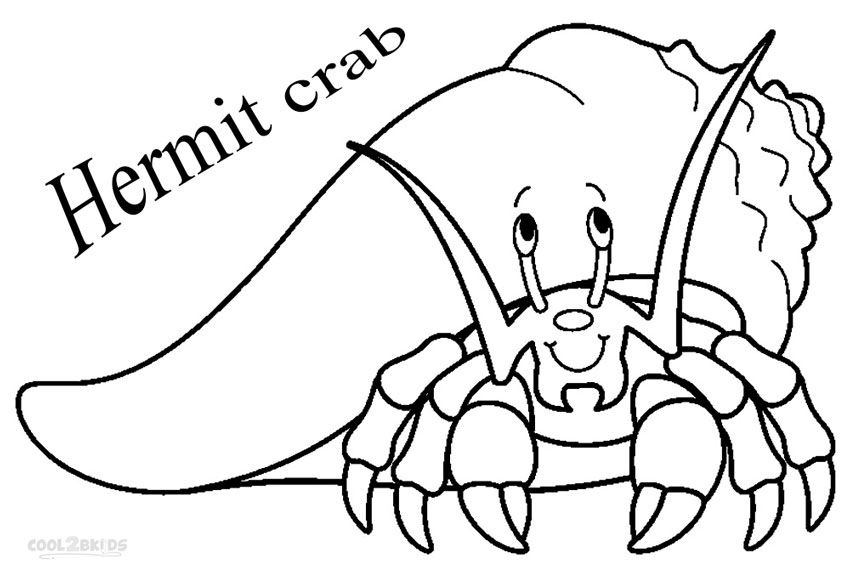 850x567 Printable Hermit Crab Coloring Pages For Kids