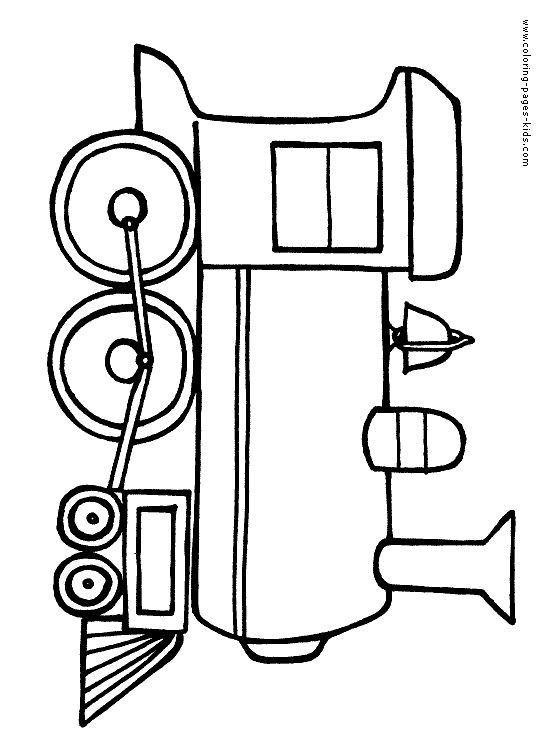 Coloring Pages For Kids Train