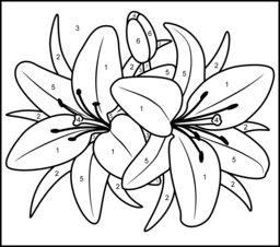 256x226 Luxurious And Splendid Numbers Coloring Pages Number