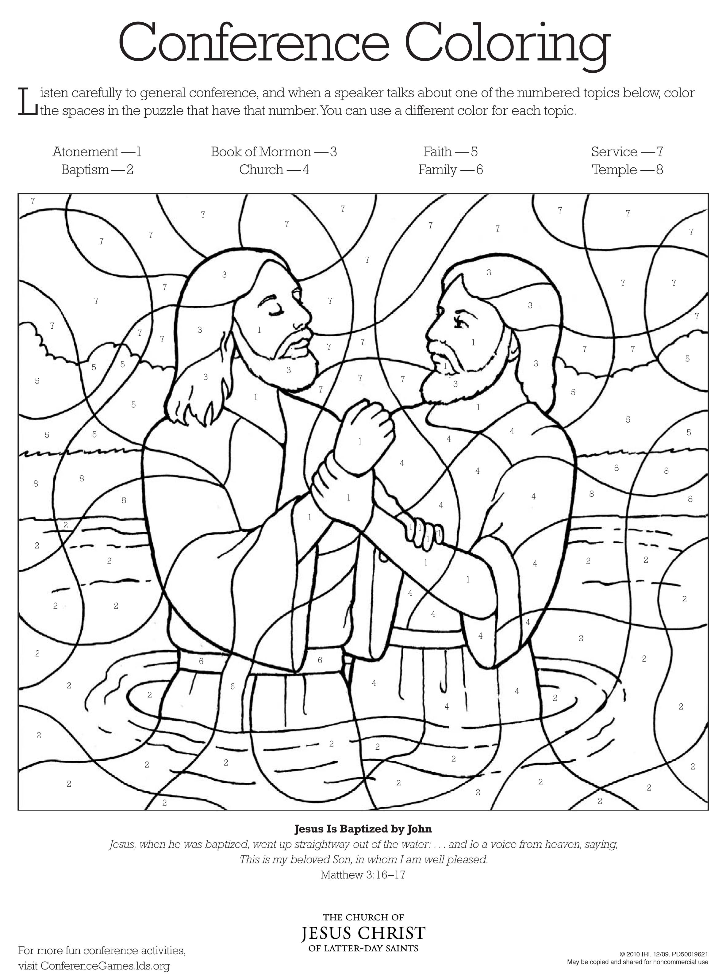 Coloring Pages For Lds Primary Lessons At Getdrawings Com Free For