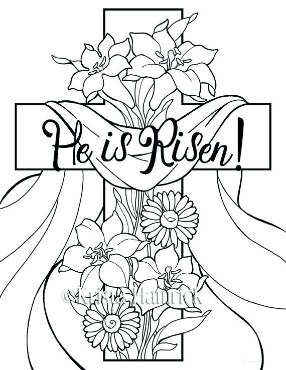 570x738 He Is Risen Coloring Pages For Children Best Colour Markers