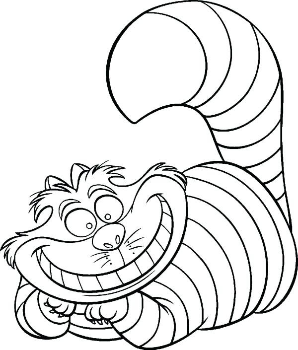 600x705 Microsoft Paint Colouring Pages In Wonderland Coloring Cat