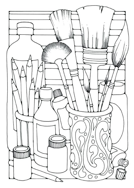 534x750 Paint Coloring Pages Paint Coloring Pages Rabbit With Paint