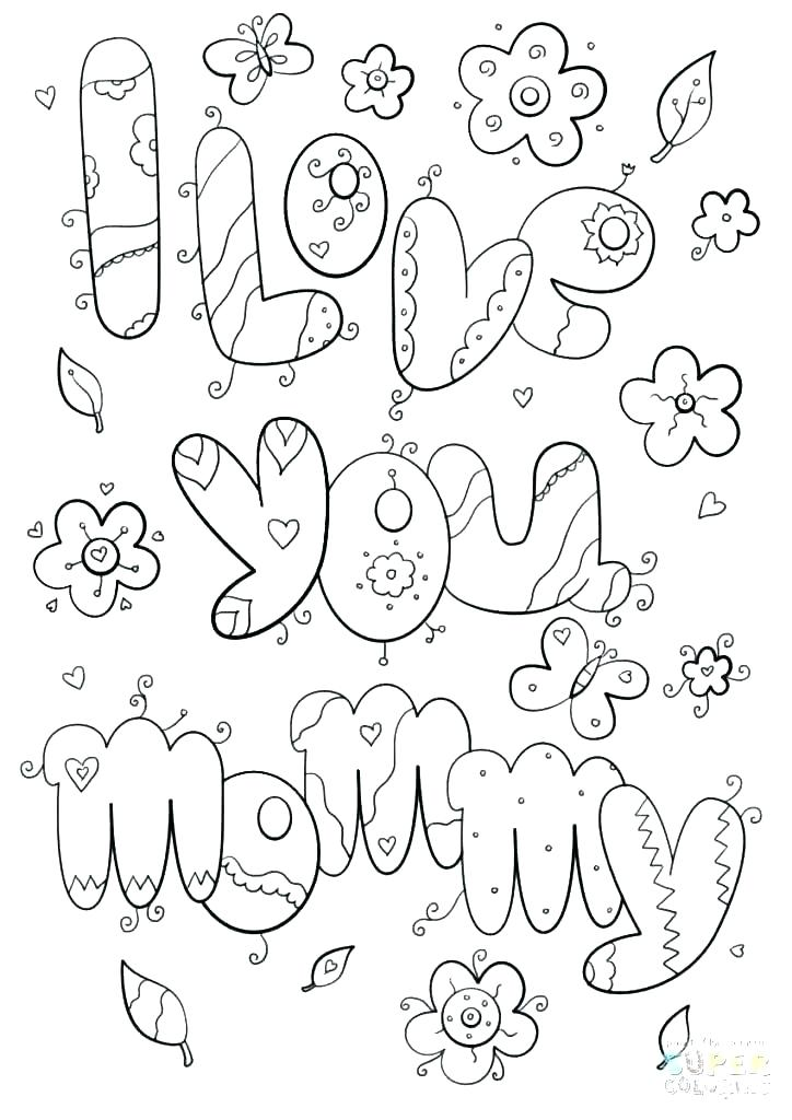 724x1024 I Love Mom Coloring Pages I Love My Mommy Coloring Pages Mom