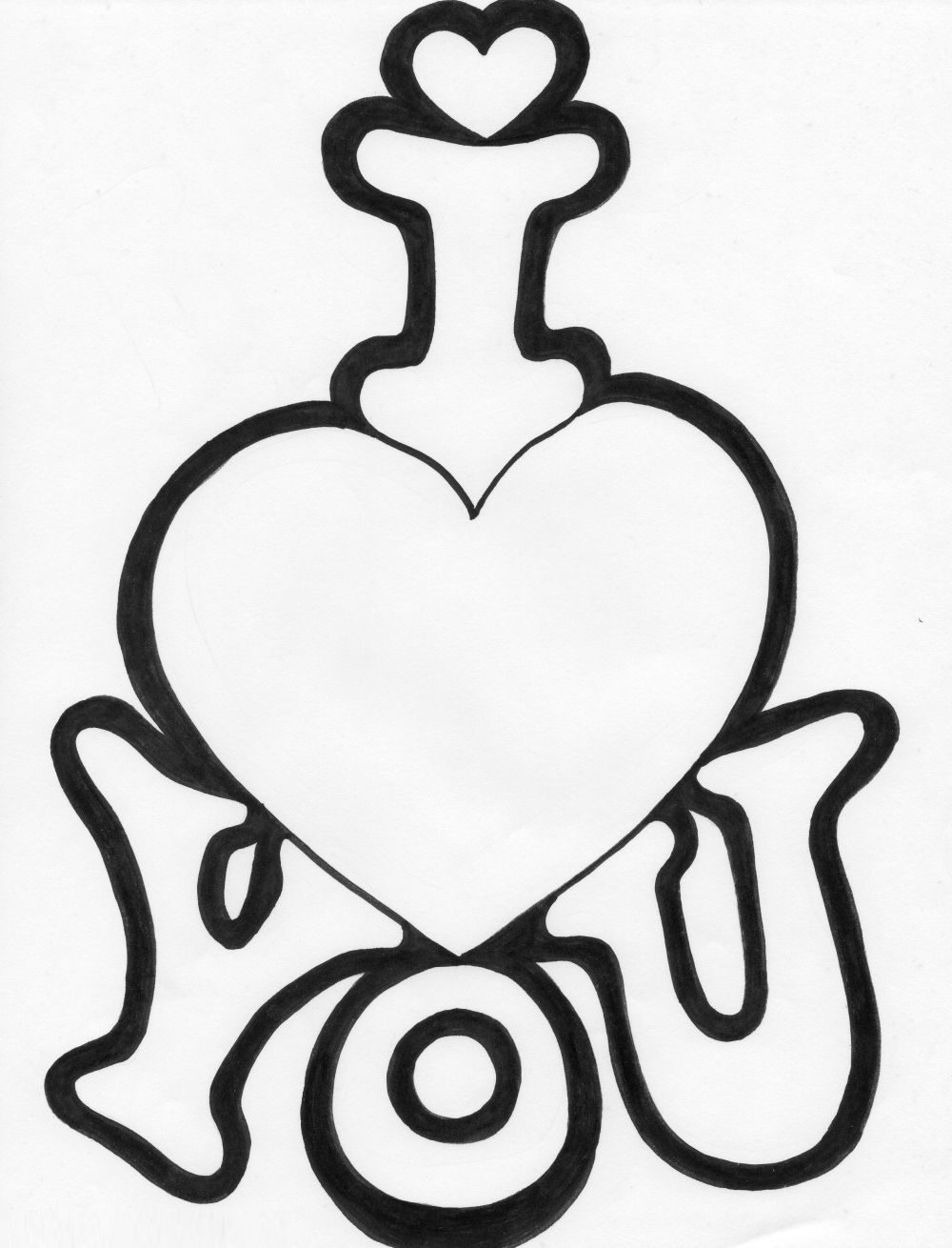 1000x1310 I Love You Coloring Pages