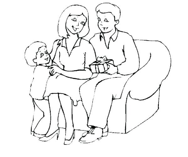 600x503 Mom Baby Coloring Pages Mom Dad Coloring Page New Mom