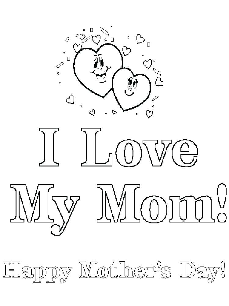 750x1000 Mom And Dad Coloring Pages I Love Mom Coloring Pages Happy