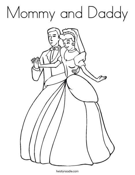 468x605 Mommy And Daddy Coloring Page