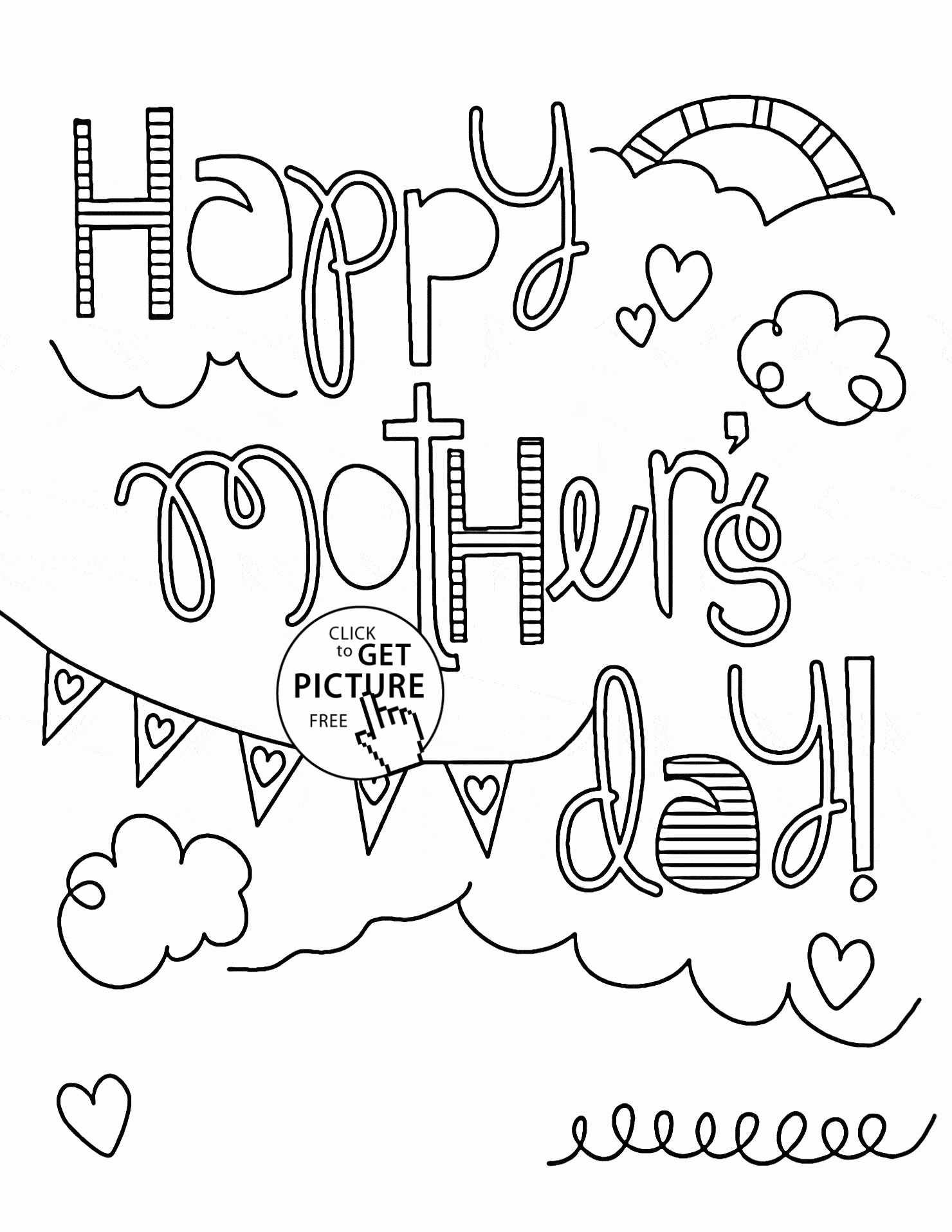 1480x1916 Coloring Pages For Mother's Day Cards Compilation Free