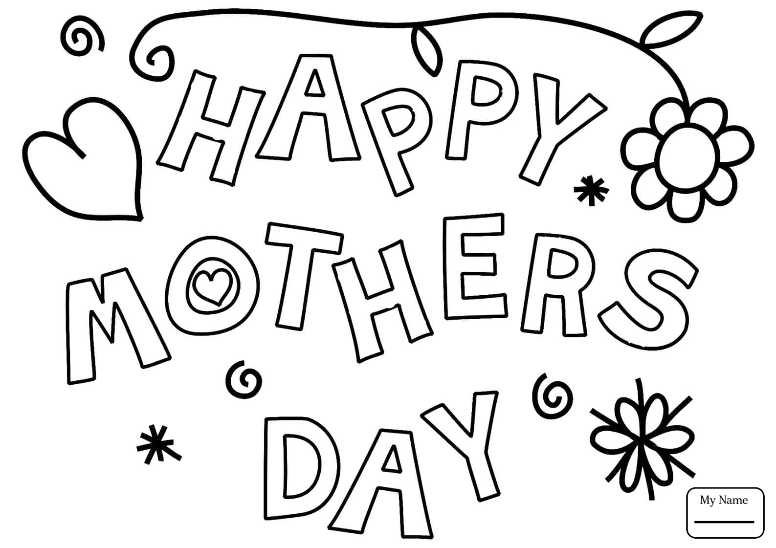 1587x1121 Fresh Coloring Pages Holidays Mothers Day Happy Mother S Day Card