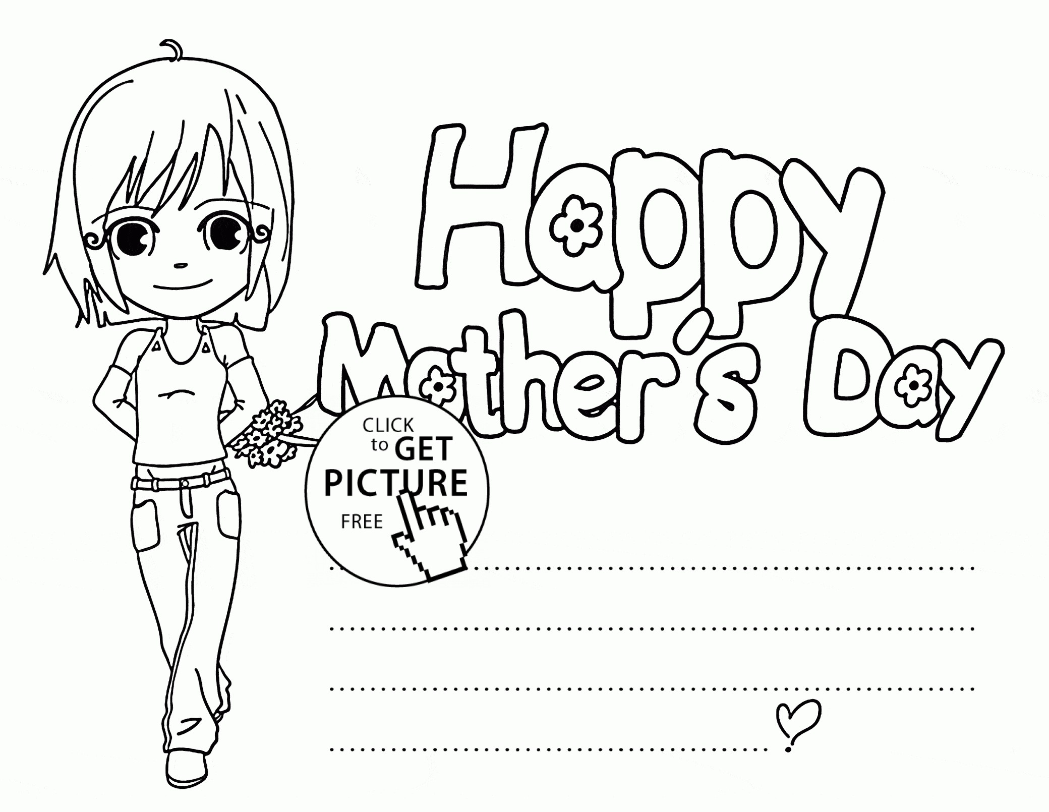 2080x1610 Happy Mother's Day Card Coloring Pages New Happy Mothers Day