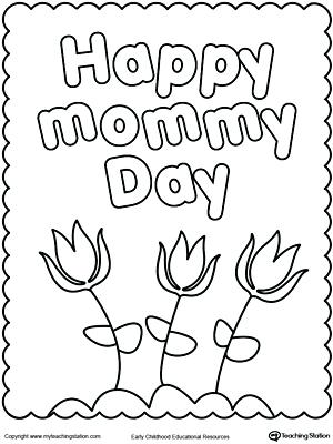 300x400 Happy Mothers Day Card Coloring Pages Printable Coloring Happy