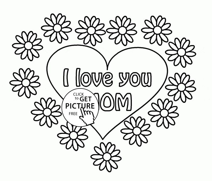735x630 Best Mothers Day Coloring Pages Images On Children