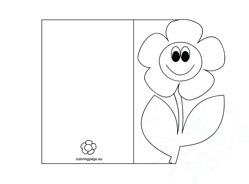 804x595 Mother Day Cards Coloring Pages Mothers Card Page Greeting