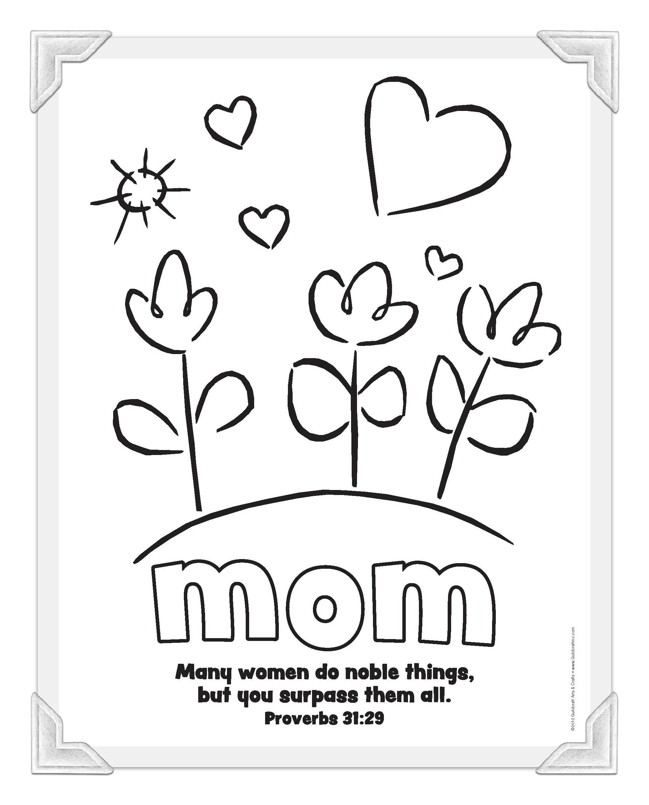 2076x2576 Printable Mother's Day Coloring Pages