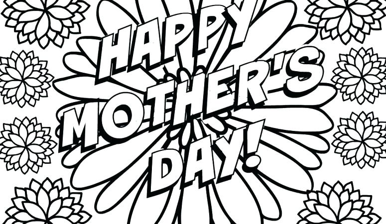 775x450 Mother Day Color Pages Printable