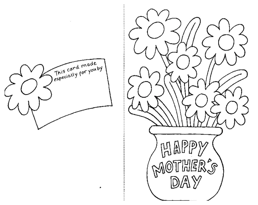 1024x814 Best Mothers Day Coloring Pages Pictures Cards And Cakes Print