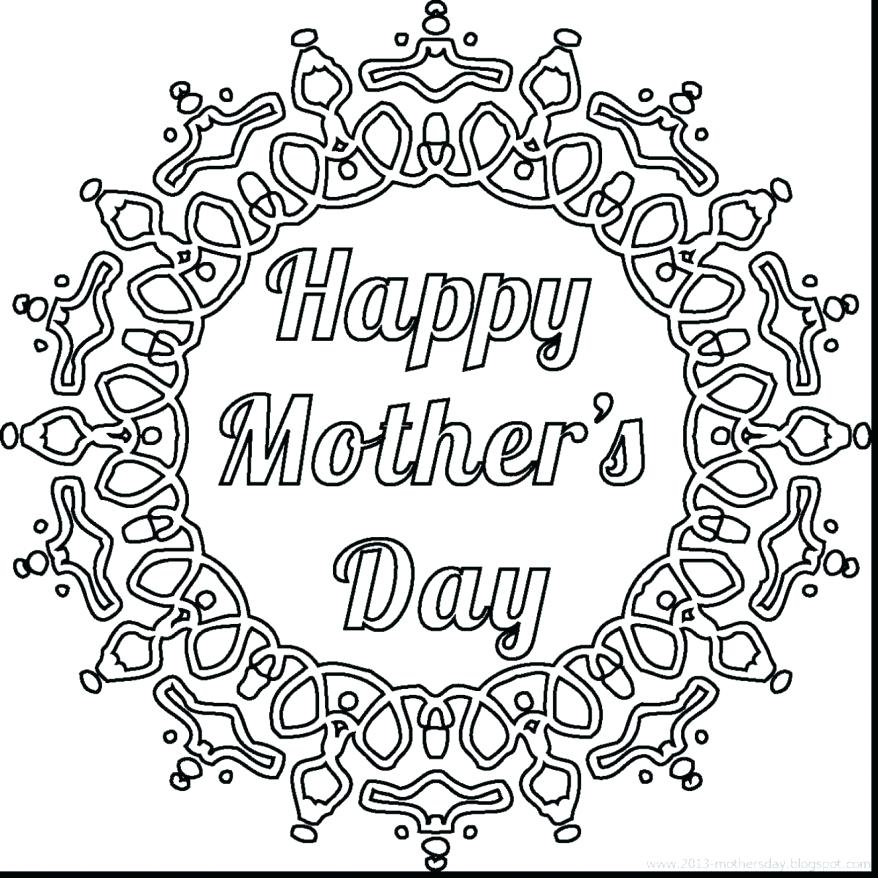878x878 Coloring Pages For Mothers Day Cards Magnificent Printable Mothers