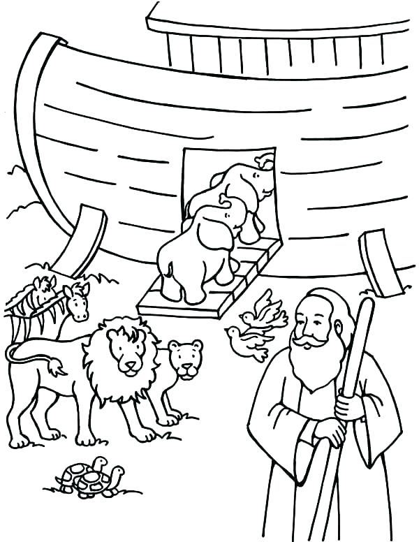 600x776 Noah Ark Coloring Pages For Preschoolers Ark Coloring Page Ark