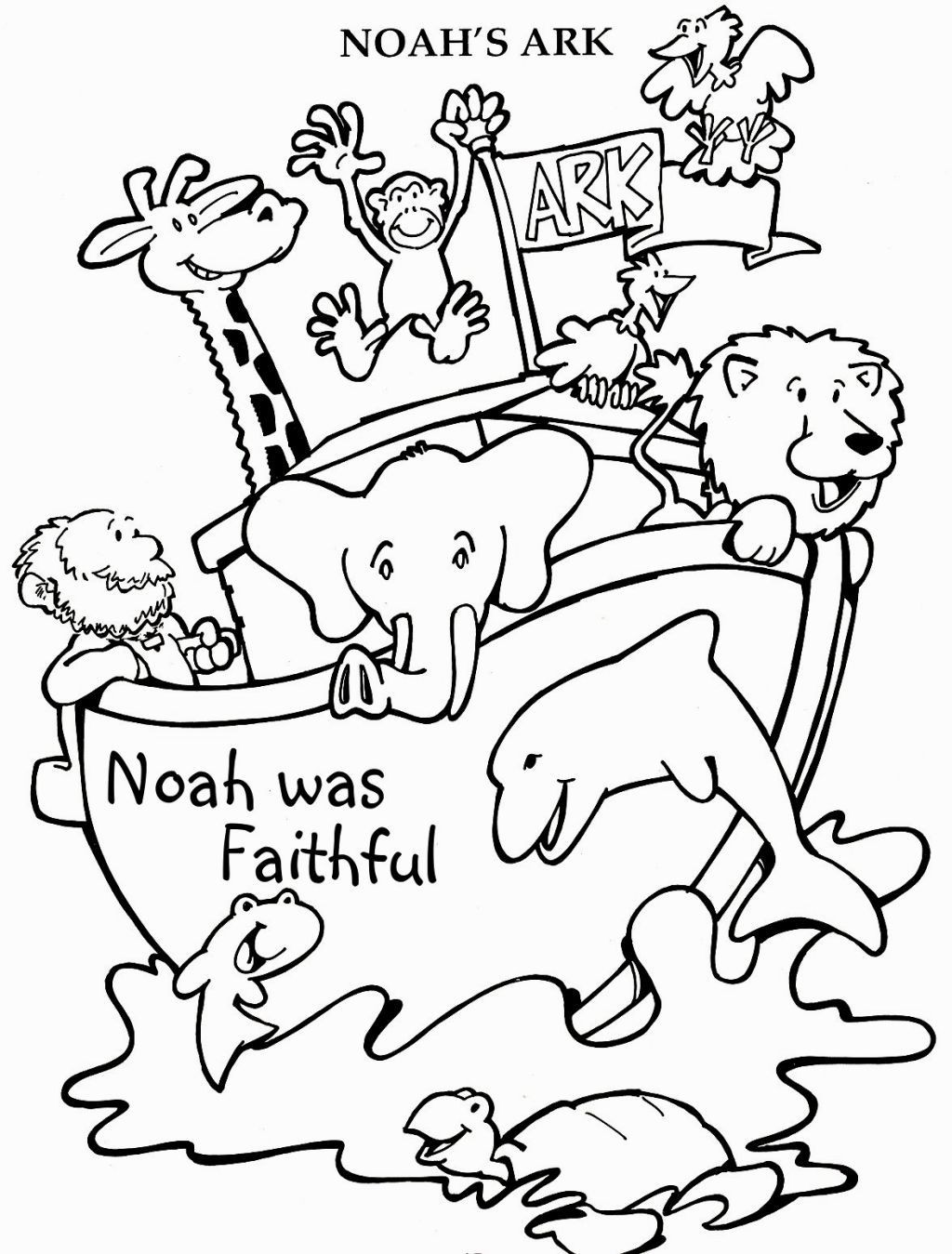 1024x1349 Noah Ark Coloring Pages Of And The Rainbow Copy Noahs Readgyan
