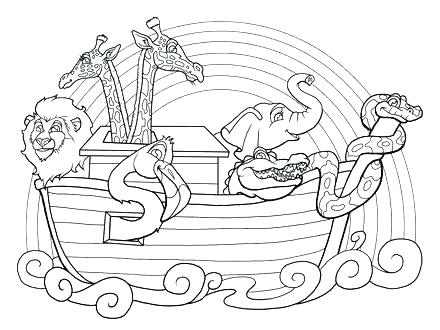 440x330 Noahs Ark Coloring Pages And The Ark Coloring Pages Coloring Pages