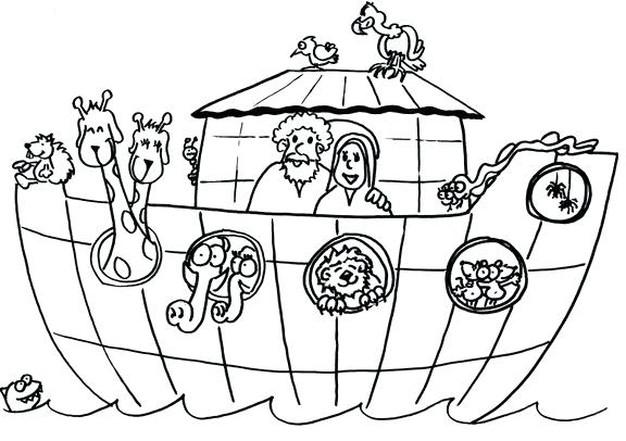 576x406 Noahs Ark Coloring Pages Printable Ark Coloring Pages S Ark