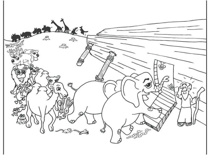 827x609 Noahs Ark Coloring Pages Printable With Free Ark Coloring Pages