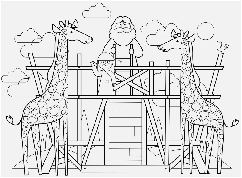 827x609 The Right Pic Noah Ark Coloring Pages Excellent