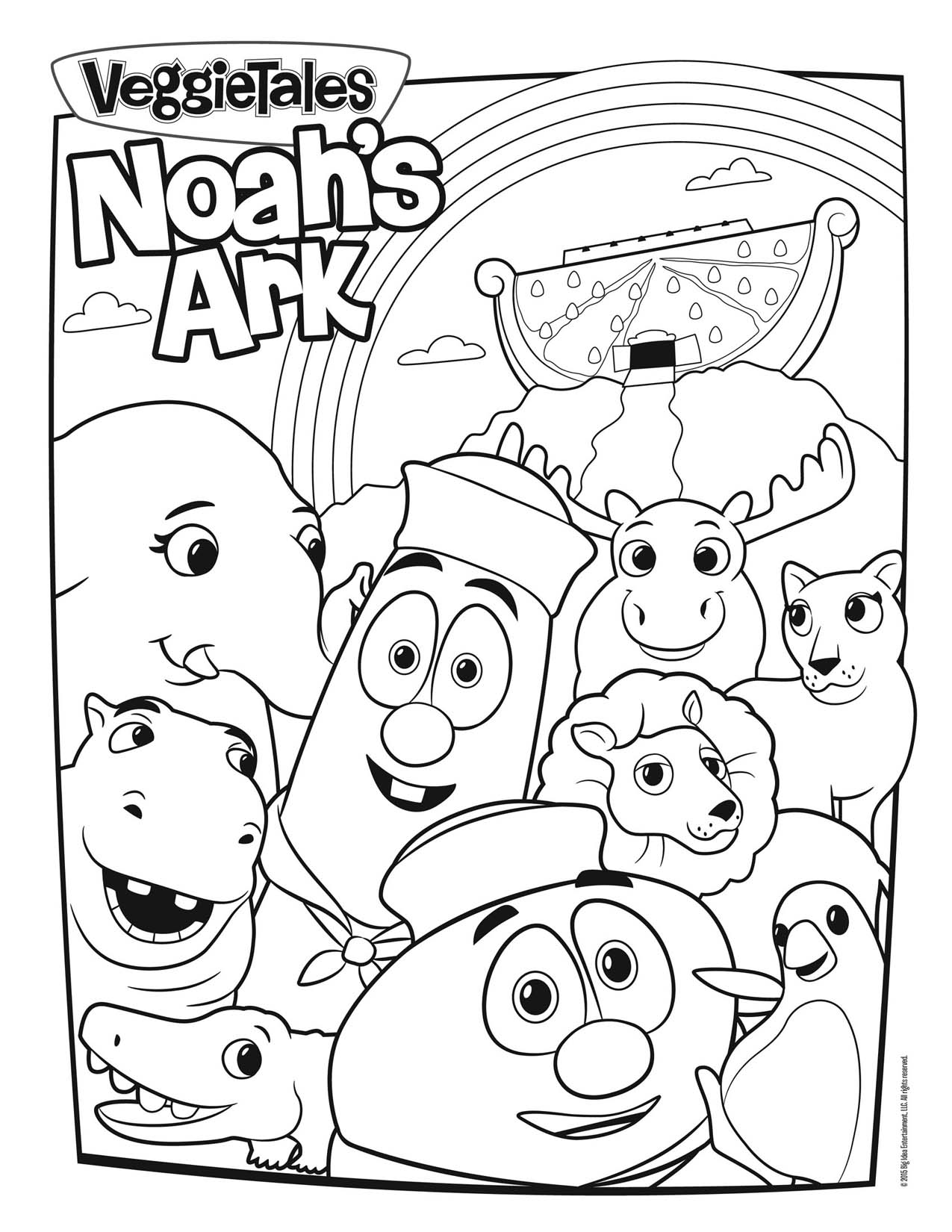 1275x1650 Veggietales Noah's Ark Coloring Page Just For Kids