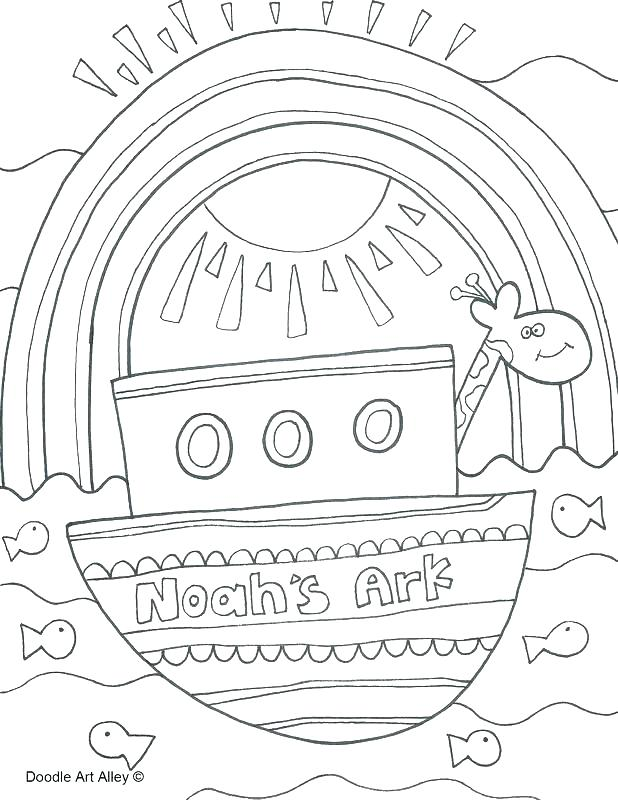 618x800 Noahs Ark Coloring Pages Professional