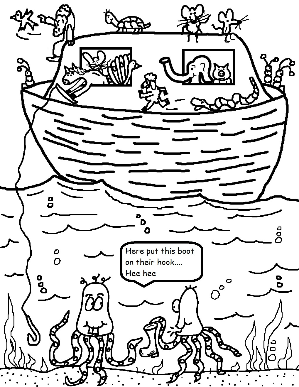 1019x1319 Noah's Ark Coloring Pages