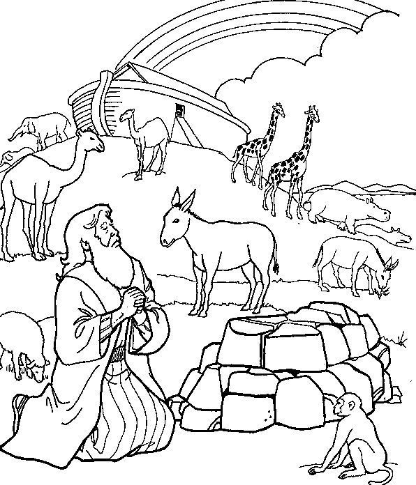 596x696 Noah's Ark Printable Coloring Pages