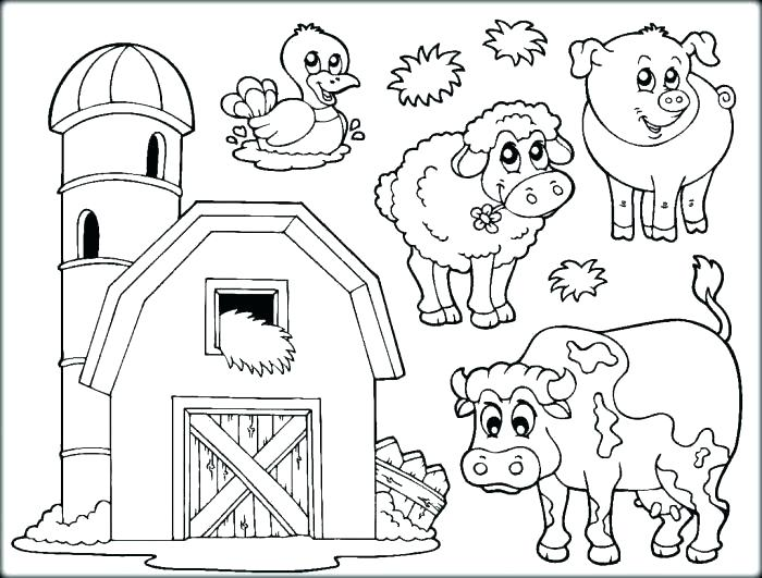 700x531 Farm Coloring Page Farm Coloring Pages For Kids Trend Coloring