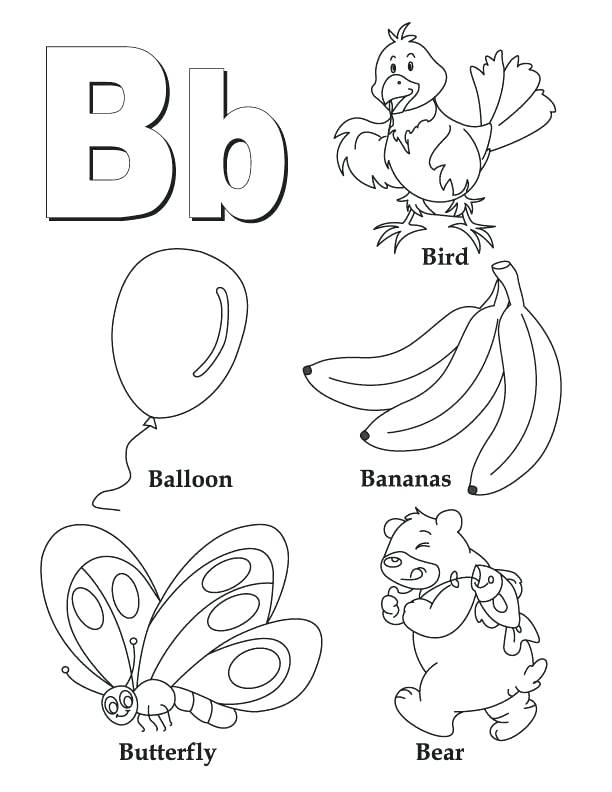 612x792 Alphabet Coloring Pages Preschool With My A To Z Coloring Book