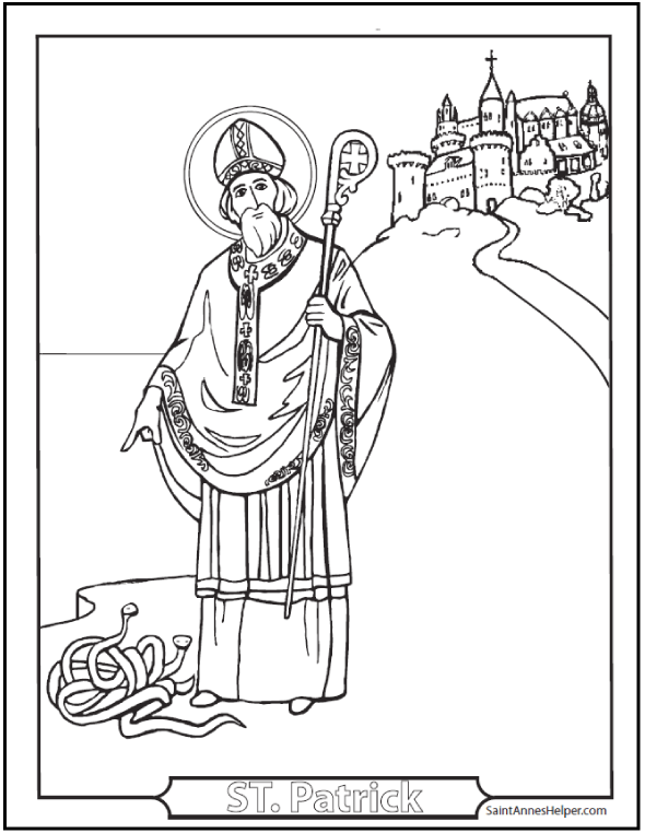 590x762 Saint Patrick's Day Coloring Pages Catholic Coloring Pages