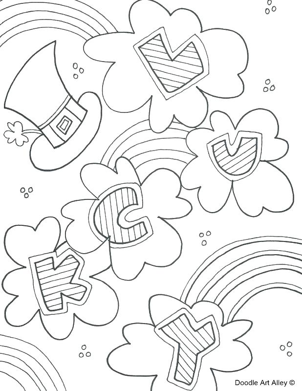 618x800 Coloring Pages For St Patricks Day Appealing St Day Coloring Page