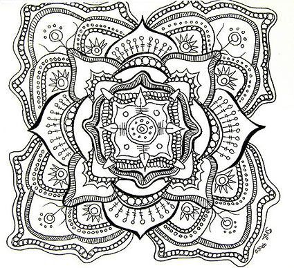 425x388 Free Printable Mandala Coloring Pages For Kids, Adults And Seniors