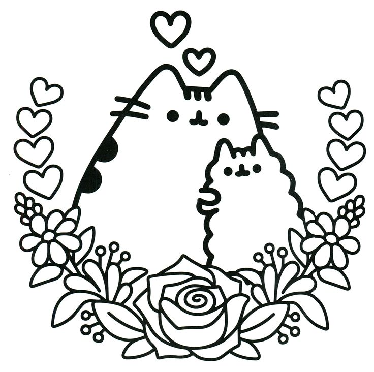 736x732 Pusheen Coloring Pages