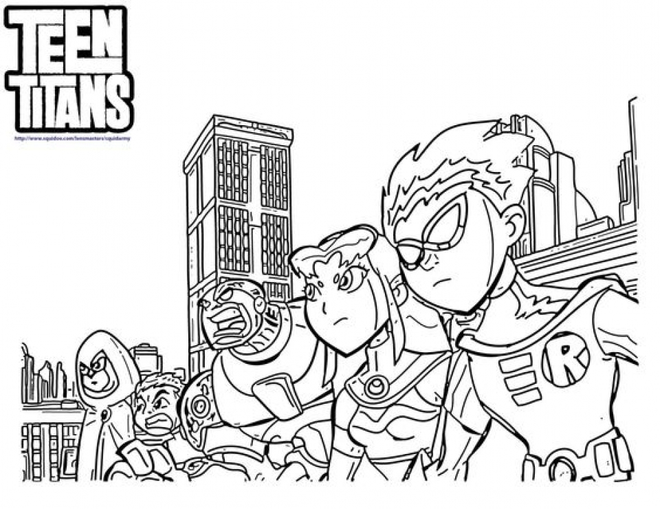 960x740 Free Printable Teen Titans Coloring Pages