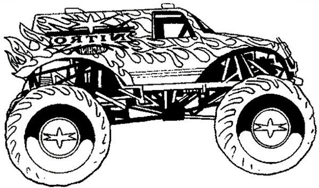 1024x606 Monster Truck Coloring Pages For Teenagers Boys